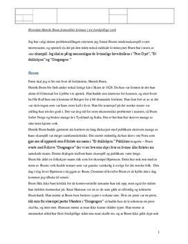 Særemne om kvinner i Ibsens verker