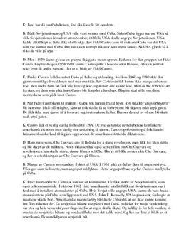 Manus til framføring om Cubakrisen