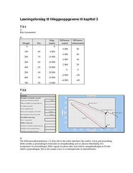 Tilleggsoppgavene til kapittel 3 - Økonomi og ledelse