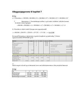 Tilleggsoppgavene til kapittel 7 - Økonomi og ledelse