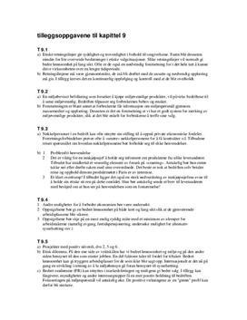 Tilleggsoppgavene til kapittel 9 - Økonomi og ledelse