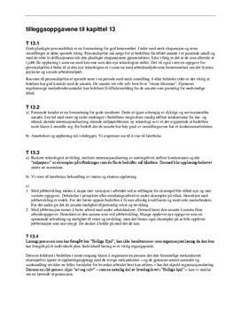 Tilleggsoppgavene til kapittel 13 - Økonomi og ledelse