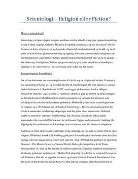 Religion og etikk: Scientologi - Fordypningsoppgave