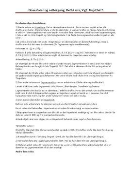 Domstoler og rettergang i Norge og internasjonalt - Rettslære 1