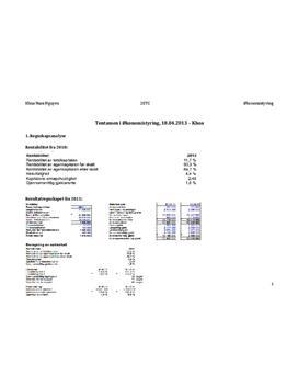 Eksamen økonomistyring: analyse og vurdering av ZAPO A/S