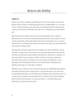 Tysk oppgave: Reisen al hobby