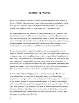 Snehvit og Narnia | Analyse og sammenligning