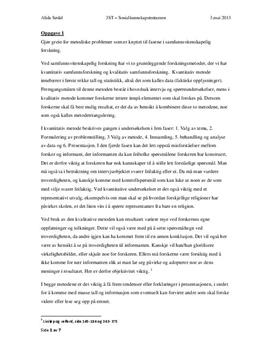 Oppvekstmiljø: Tentamen i Sosialkunnskap