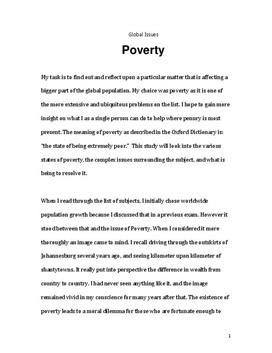 Global Issues - Poverty