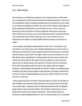 Diskursanalyse av Howl av Allen Ginsberg