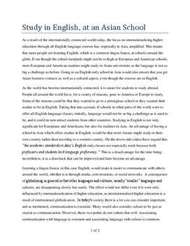 Engelsk artikkel: Internationalizing higher education