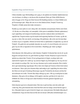 Lagnaden i Soga om Gisle Sursson