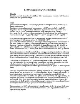 8.4 Titrering av sterk syre med sterk base | Rapport