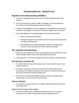 Gyldendal Samfunnsøkonomi kapittel 6-7