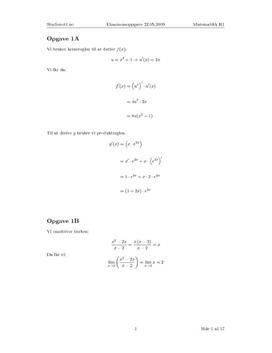 Matematikk R1 eksamen Vår 2009