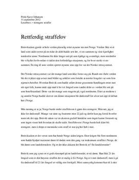 Strengere fengelsstraffer i Norge | Artikkel