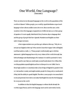 essay about english languages as a global languages Open document below is an essay on english as a global language from anti essays, your source for research papers, essays, and term paper examples.