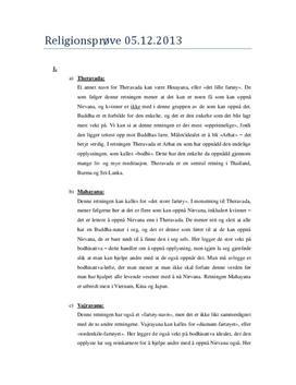 Sammendrag og sammenligning av buddhisme og islam