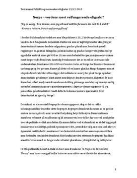 Medias påvirkning av demokratiet i Norge | Sammendrag