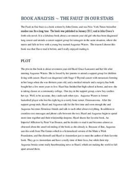 The Fault in Our Stars av John Green | Analyse