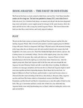 john green fault our stars pdf