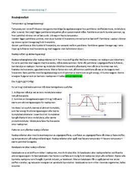Reaksjonsfart og likevekt: sammendrag
