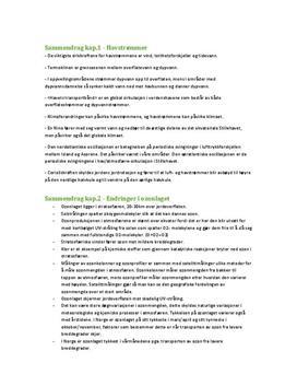 Sammendrag av kapittel 1, 2, 3, 4, 5 og 6 i Geofag