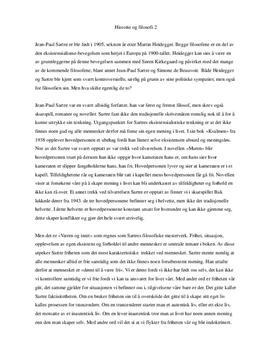 Sammenligning av Sartres og Heideggers filosofi