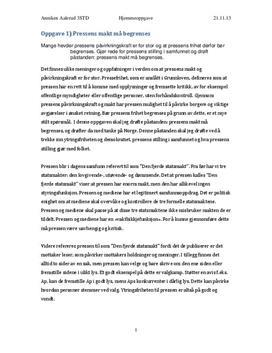 Artikkel om pressens makt
