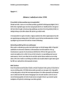 Eksamen i politikk og menneskerettigheter 2013