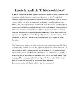 Pans Labyrint | Annmeldelse
