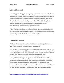 Caserapport om ekspansjonsmatrisen