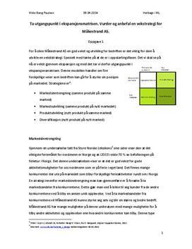 Tentamensbesvarelse i markedsføring og ledelse våren 2013