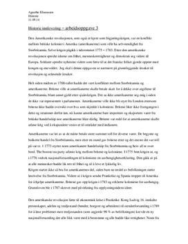 Årsaker til den amerikanske- og franske revolusjon | Sammendrag