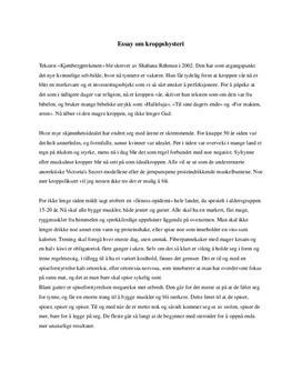 Essay om kroppshysteri