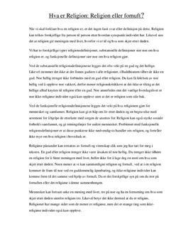 Hva er Religion? | Artikkel om religion og fornuft