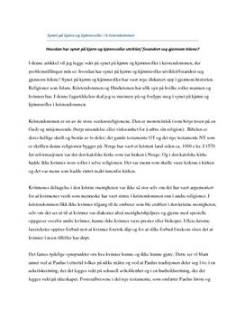 Kjønn og kjønnsroller i kristendommen