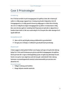 Prisstrategier for treningsapparat   Caserapport