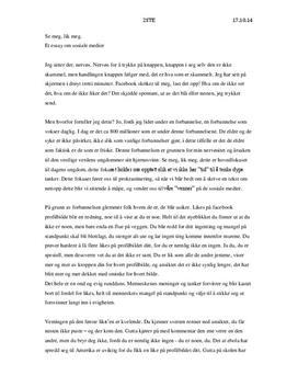 Essay om sosiale medier