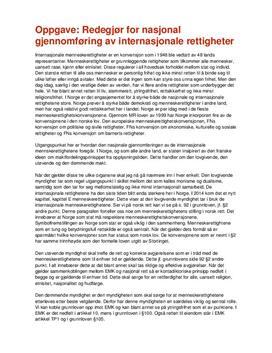 Internasjonale rettigheter | Redegjørelse