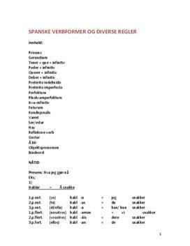 Regler for spanske verbformer
