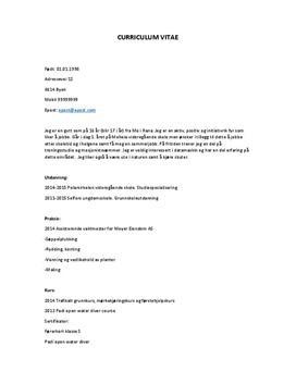 Eksempel på CV til jobbsøking