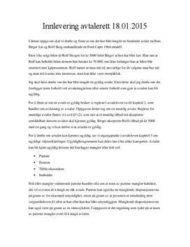 Avtalerett   Muntlig avtale ved bilkjøp