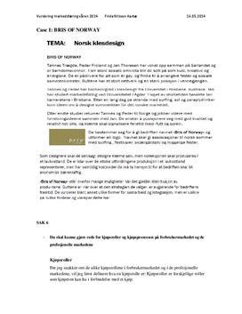 Bris of Norway | Caserapport