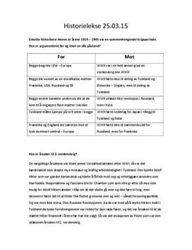 Spørsmål til kap. 17 | Andre verdenskrig