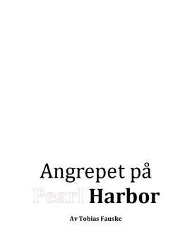 Sammendrag | Angrepet på Pearl Harbor