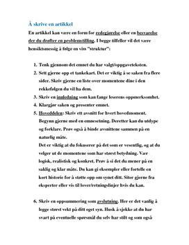 kunnskapsbase hvordan skrive en artikkel