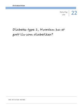 Diabetes type 1 | Fordypningsoppgave