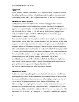 Eksamen 2014 | Rettslære 2 - Forbruker