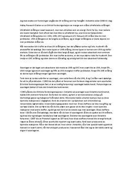 Sammendrag | Ozonlaget over Antarktis